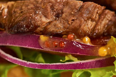Closeup of Sandwich with meat Royalty Free Stock Image
