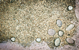 Closeup of sandy  stone frame Stock Image