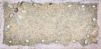 Closeup of sandy  stone frame Royalty Free Stock Photo