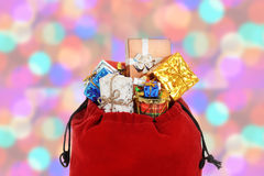 Closeup of santa claus bag Stock Photography