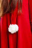 Closeup of santa claus red hat Royalty Free Stock Photography