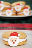 Closeup Santa Face Cookie Stock Photos