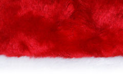 Closeup of a Santa hat Royalty Free Stock Photography