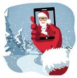 Closeup of Santa's hand taking Santa's selfie Royalty Free Stock Photo