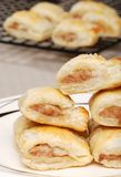 Closeup of sausage rolls Royalty Free Stock Image