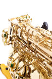 Closeup of a sax Royalty Free Stock Image