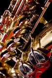 Closeup Saxaphone Buttons. Abstract closeop of saxapone buttons stock images