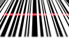 Closeup of scanning barcode. Depth of fields stock illustration