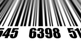 Closeup of scanning barcode. Stock Images