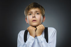 Funny Little Boy With Shocked Expression Stock Photo ...