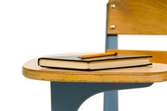 Closeup of school desk Royalty Free Stock Images