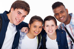 Closeup school students Stock Images