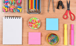 Closeup of School Supplies Royalty Free Stock Image
