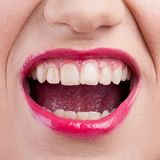 Closeup of screaming mouth Royalty Free Stock Photography