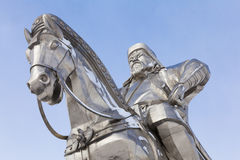 Closeup of sculpture of Genghis Khan and horse Stock Photography