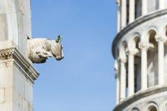 Closeup sculpture Pisa Royalty Free Stock Images