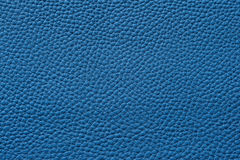 Closeup of seamless blue leather texture. For background Royalty Free Stock Photos
