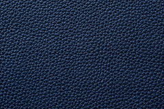 Closeup of seamless blue leather texture Stock Photography