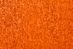 Closeup of seamless orange leather texture Stock Photo