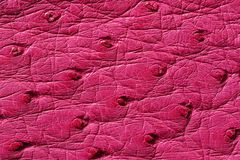Closeup of seamless pink leather texture. For background Royalty Free Stock Photo