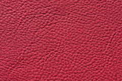 Closeup of seamless red leather texture Stock Image