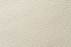 Closeup of seamless white leather texture. For background Royalty Free Stock Photo