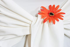 Closeup of seat back covering for a wedding Stock Image