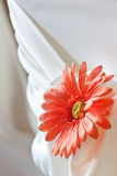 Closeup of seat back covering for a wedding Royalty Free Stock Photos