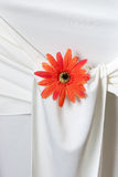 Closeup of seat back covering for a wedding Stock Photography