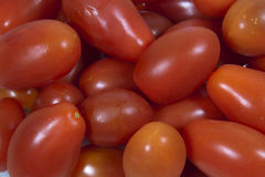 Closeup Selection of Ripe Mini Italian Tomatoes Stock Photography
