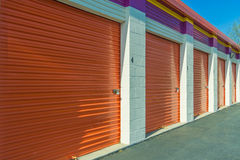 Closeup of Self Storage Building Royalty Free Stock Photography