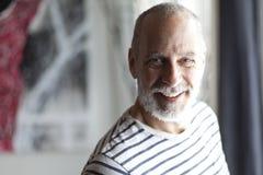 Closeup Of A Senior Man Smiling At The Camera Royalty Free Stock Photo