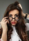 Closeup of sensual young girl Stock Photo
