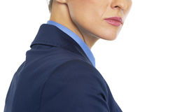 Closeup on serious business woman Royalty Free Stock Photo