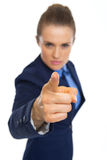 Closeup on serious business woman threatening with finger Royalty Free Stock Photo