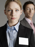 Closeup Of Serious Businesswoman With Businessman Royalty Free Stock Photo