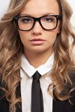 Closeup seriously businesswoman portrait Royalty Free Stock Images