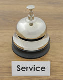 Closeup of service bell Royalty Free Stock Photo