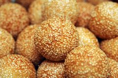Closeup of sesame seed cake Royalty Free Stock Photography