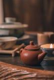 Closeup set of China tea Stock Photos