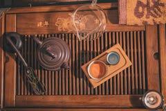 Closeup set of China tea Royalty Free Stock Photography