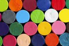Colorful oil pastels Royalty Free Stock Images
