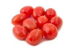 Closeup of several ripe plum tomatoes Stock Image
