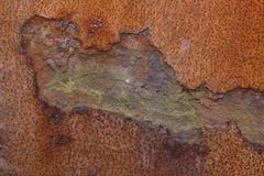Closeup of corroded metal Royalty Free Stock Image