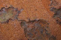 Closeup of corroded metal Royalty Free Stock Photos