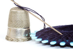 Closeup sewing kit Royalty Free Stock Photo
