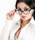 Closeup of business woman Royalty Free Stock Photography