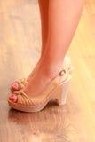 Closeup of sexy woman feet in high heels. Stock Photo