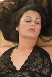 Closeup of Sexy Woman Sleeping Royalty Free Stock Photography