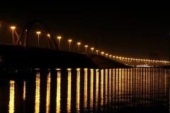Closeup of Shaikh Khalifa Bridge & reflection Royalty Free Stock Photography